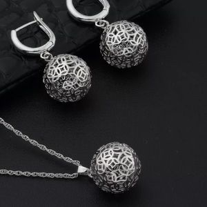 Jewelry - Platinum Plated Set Earrings Necklace